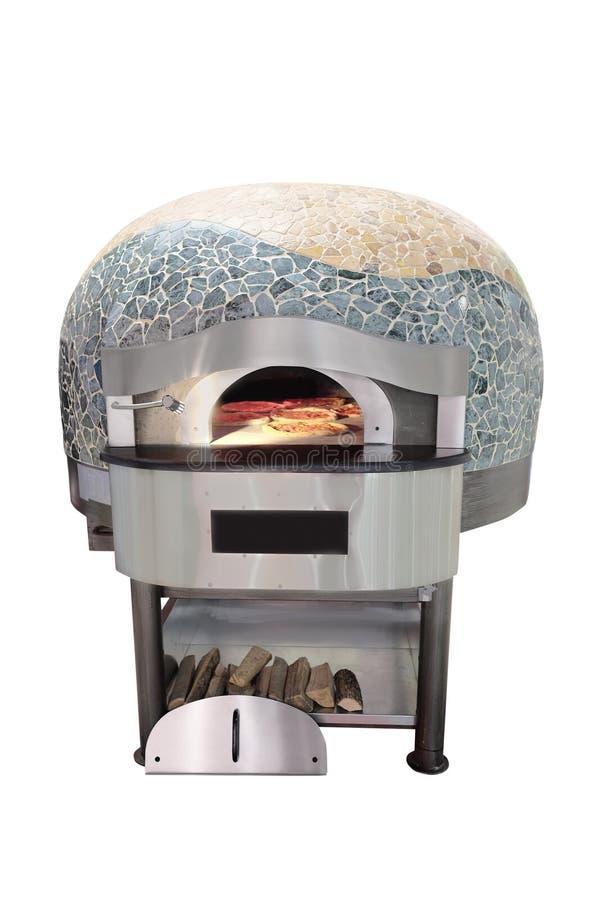 Horno tradicional para la pizza de cocinar y que cuece fotografía de archivo