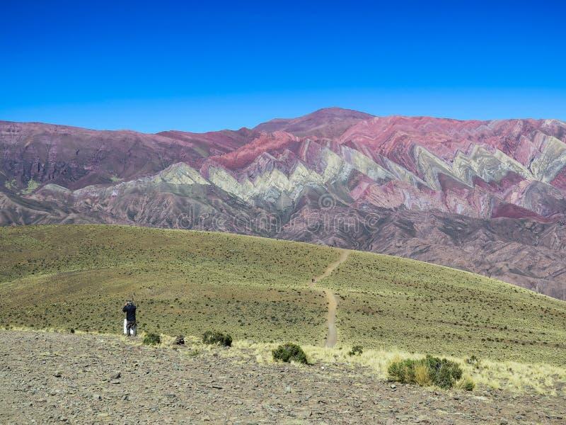 Hornocal Serrania DE stock afbeelding