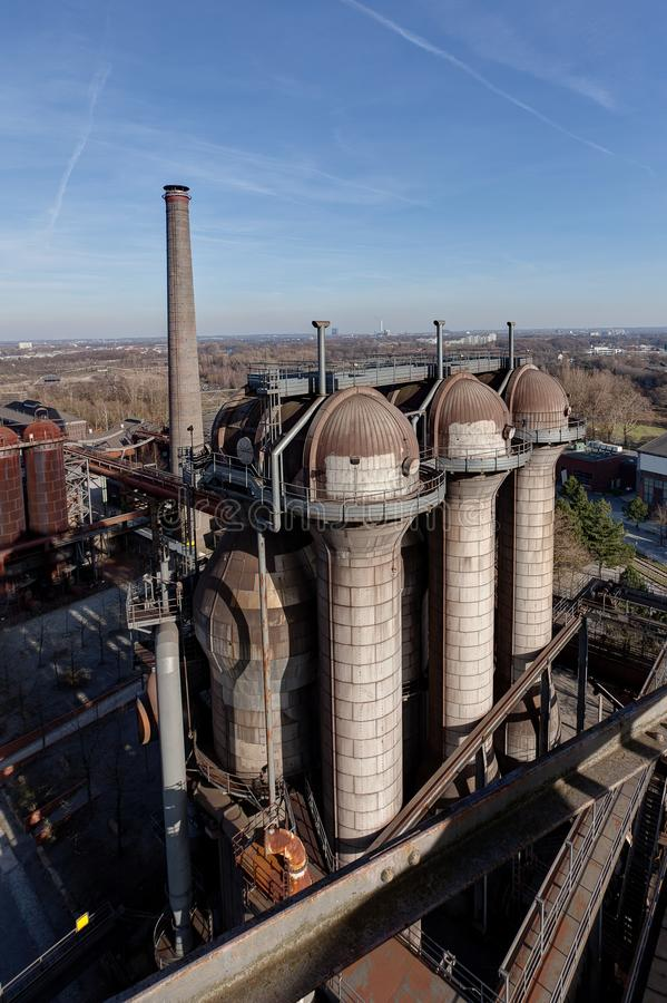 Hornos de acero Landschaftspark, Duisburgo, Alemania foto de archivo