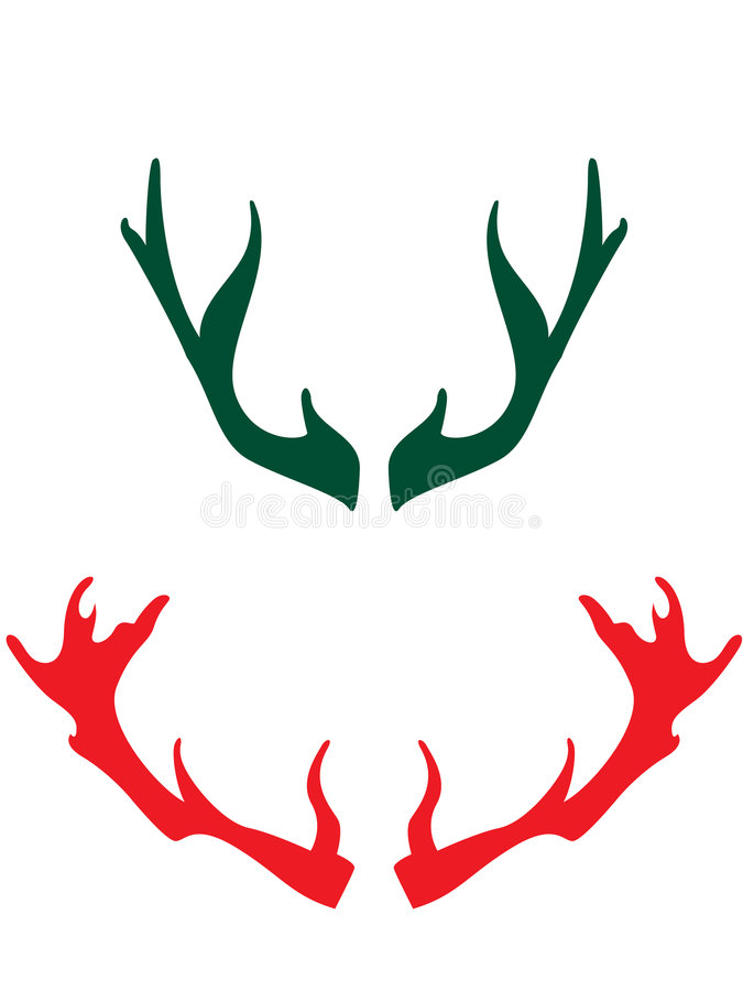 Horns of the deers royalty free illustration