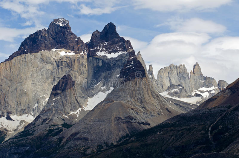 Download The Horns Of Paine In Torres Del Paine National Park, Patagonia, Stock Photo - Image: 28488204