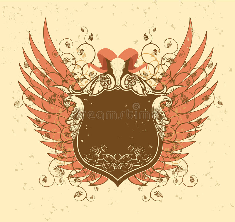Horns and Wings. royalty free illustration