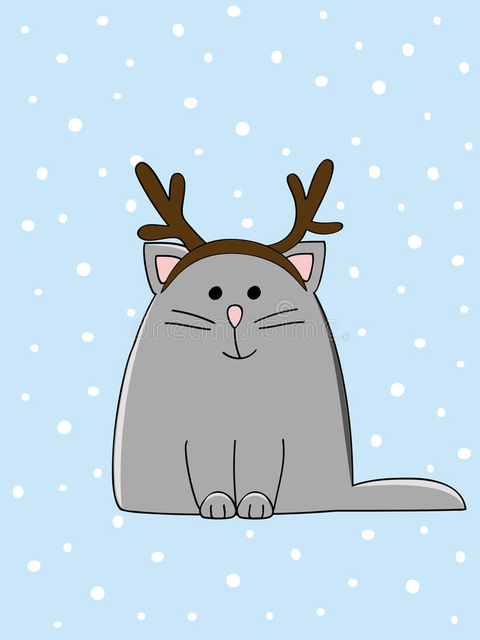 Download Kitten stock vector. Image of mammal, christmas, image - 25279317