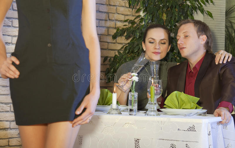 Download Man in restaurant stock image. Image of female, faithlessness - 11329939