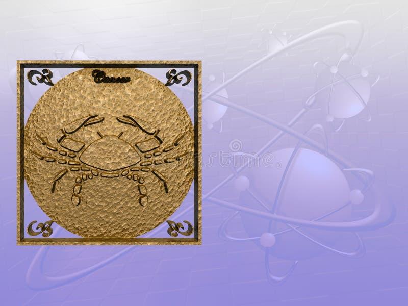 Horoscoop, Kanker. stock illustratie