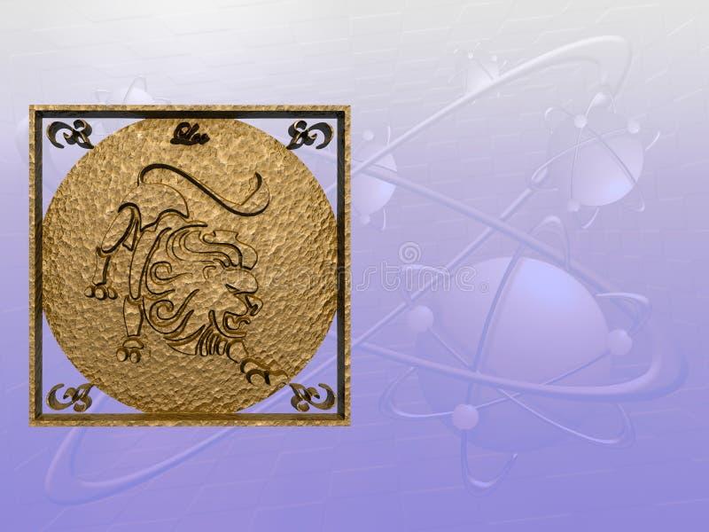 Horoscoop, Leeuw. vector illustratie