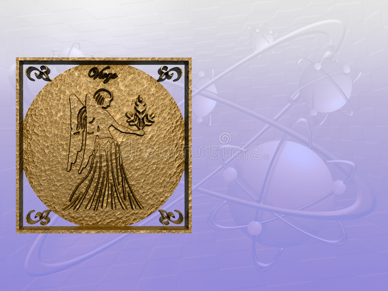 Horoscoop, virgo. stock illustratie
