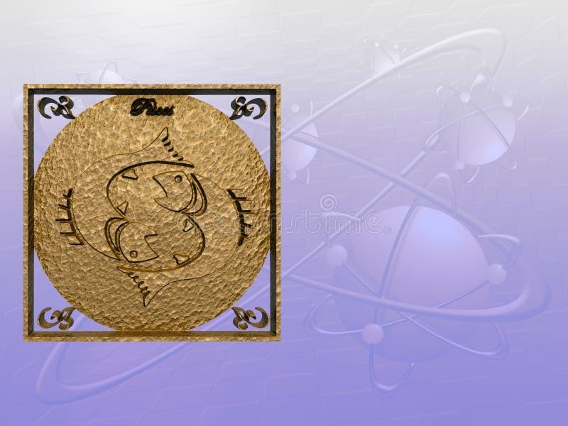 Horoscoop, Vissen. stock illustratie
