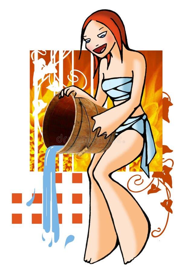 Horoscoop Waterman met achtergrond vector illustratie