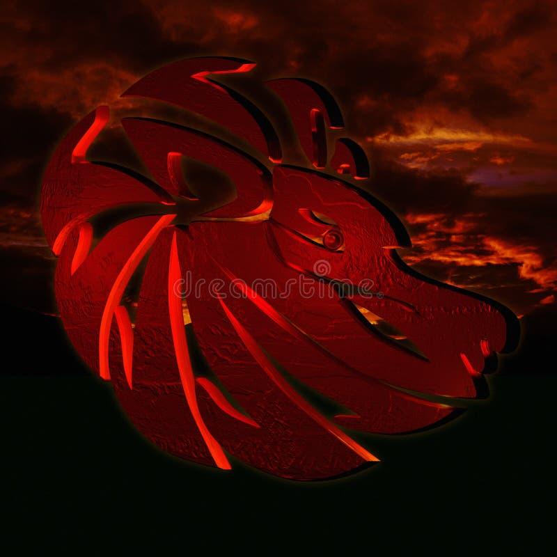 Horoscoopleeuw royalty-vrije illustratie