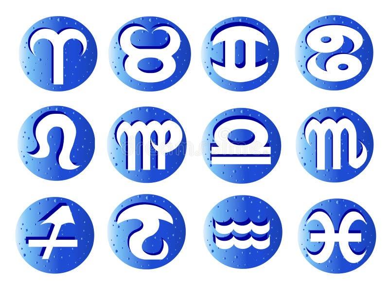 Horoscope: 12 segni dello zodiaco royalty illustrazione gratis