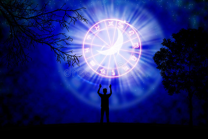 horoscope illustration stock