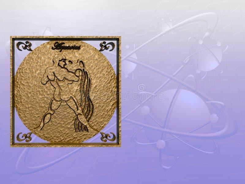 Horoscope, Aquarius. illustrazione vettoriale