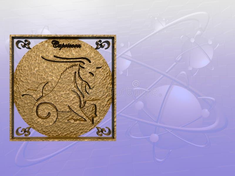Horoscope, Capricorn royalty illustrazione gratis