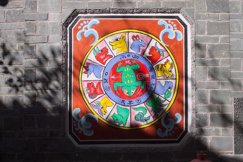 Horoscope - Chinese zodiac signs. Old Town of Lijiang, Yuannan, China stock images