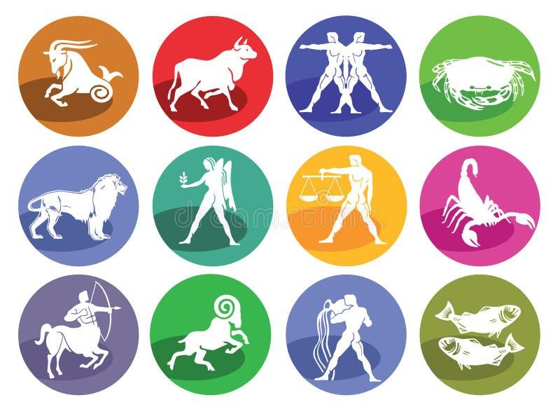 Horoscope d'astrologie, icône illustration libre de droits