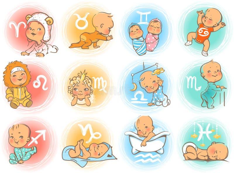 Horoscope de bébé illustration de vecteur