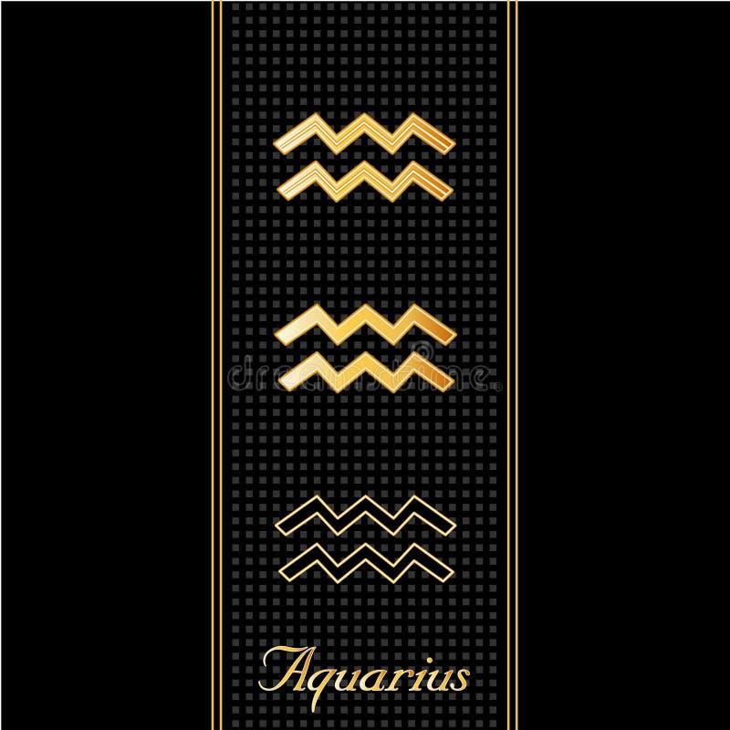 Horoscope del Aquarius (EPS+JPG) royalty illustrazione gratis