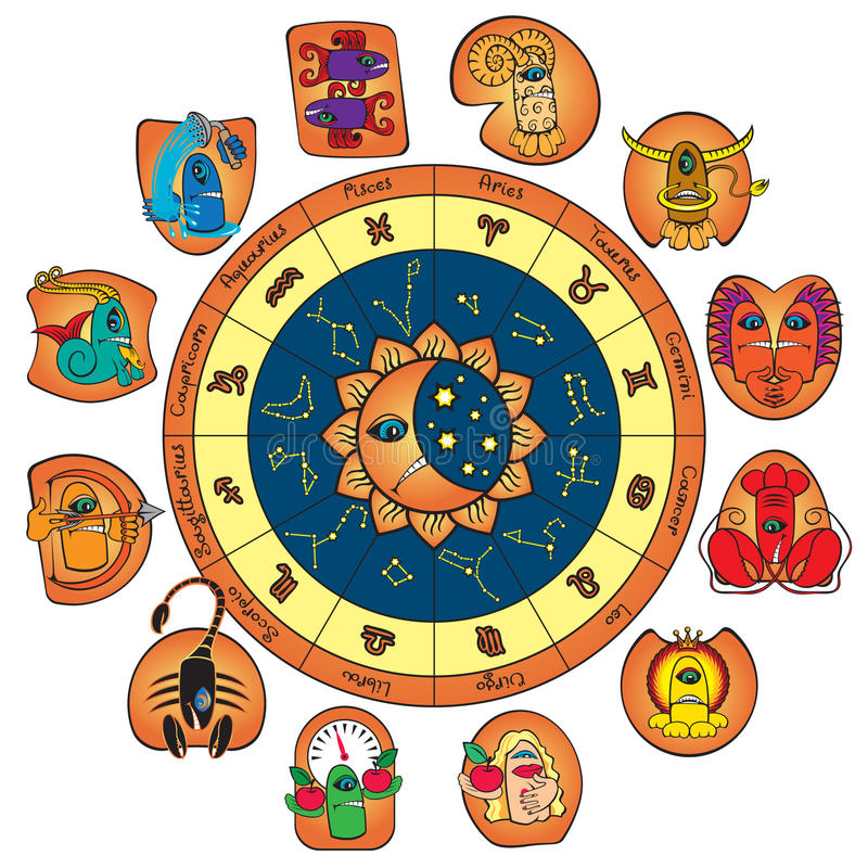 Download Horoscope Of Funny Monsters Stock Vector - Illustration: 22171142