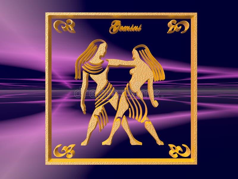 Horoscope, Gemini. illustrazione vettoriale