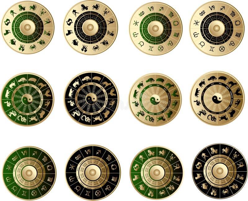 Horoscope icons vector illustration