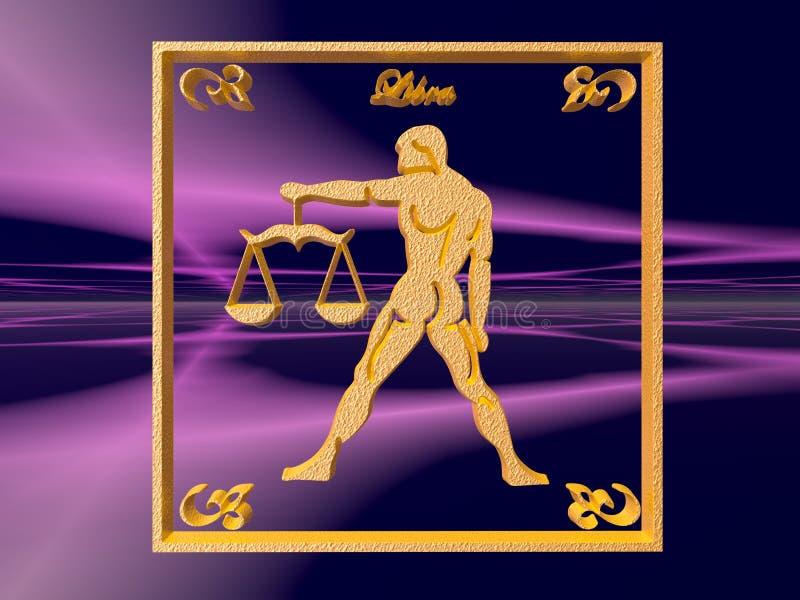 Horoscope, Libra. illustrazione vettoriale