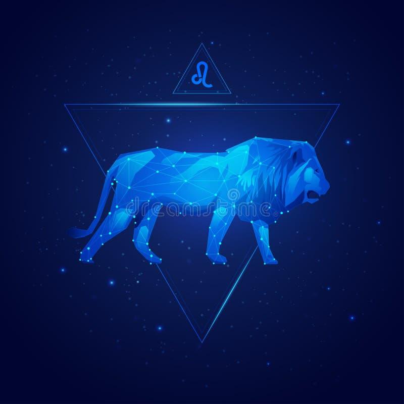Horoscope Lion illustration stock