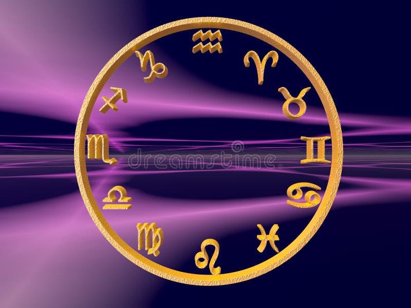 Horoscope, lo zodiaco. illustrazione di stock