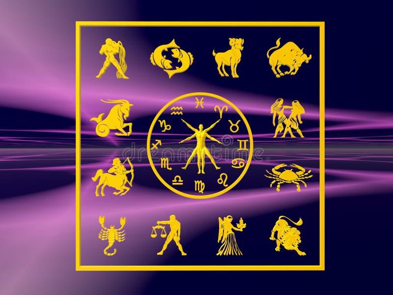 Horoscope, lo zodiaco. illustrazione vettoriale