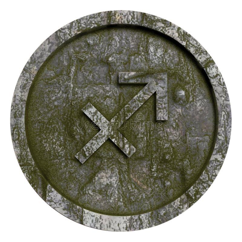 Horoscope sign Sigittarius. The Horoscope sign Sigittarius Illustration royalty free illustration