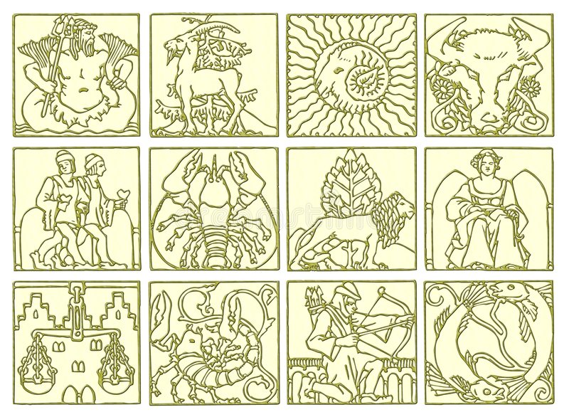 Horoscope - zodiac stock image
