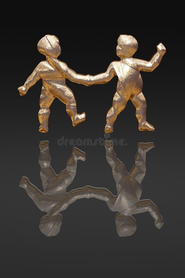 Horoscope - zodiac - gold metal stock photo