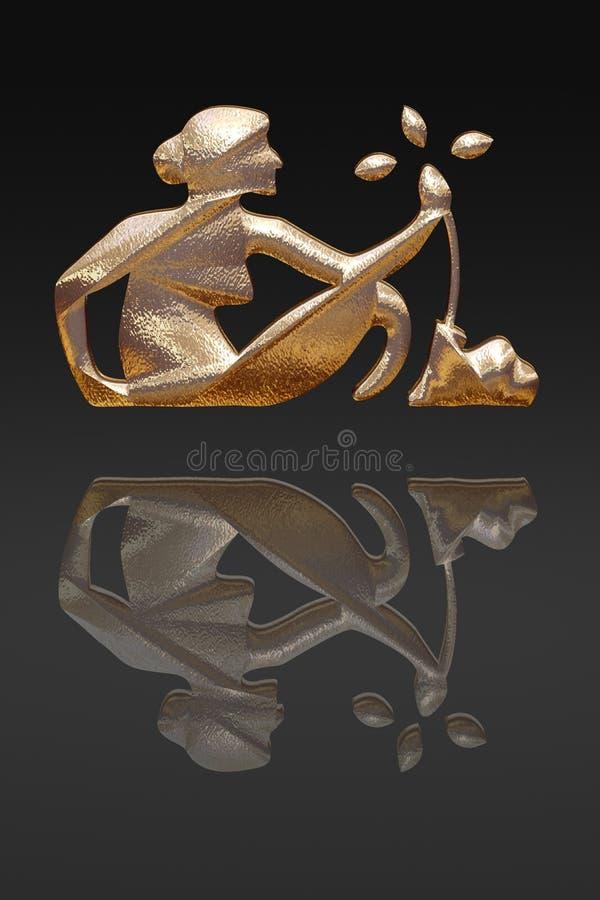 Horoscope - zodiac - GOLD metal stock photos