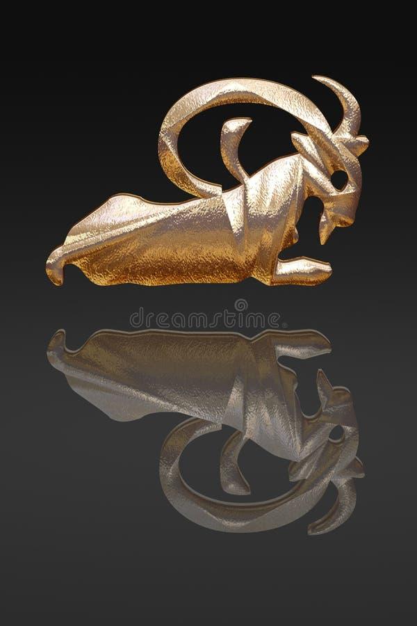 Horoscope - zodiac - gold metal stock images