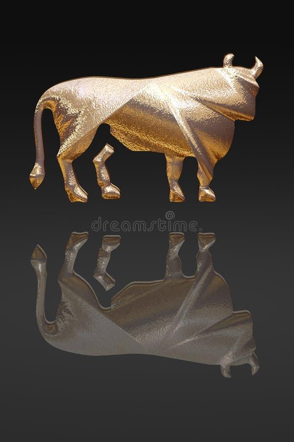 Horoscope - zodiac - gold metal royalty free stock image