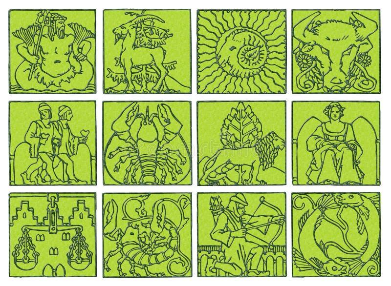 Horoscope - zodiaco royalty illustrazione gratis