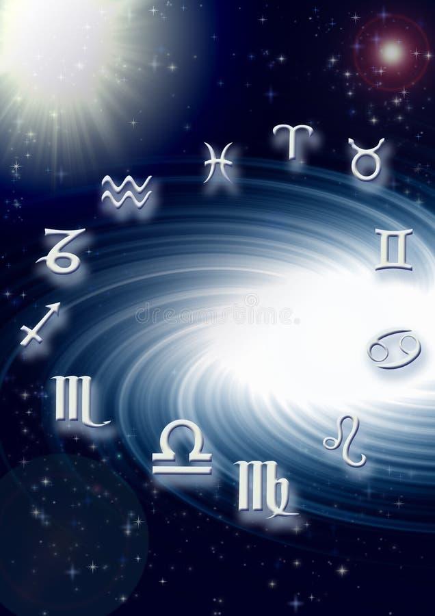 horoskop stock illustrationer