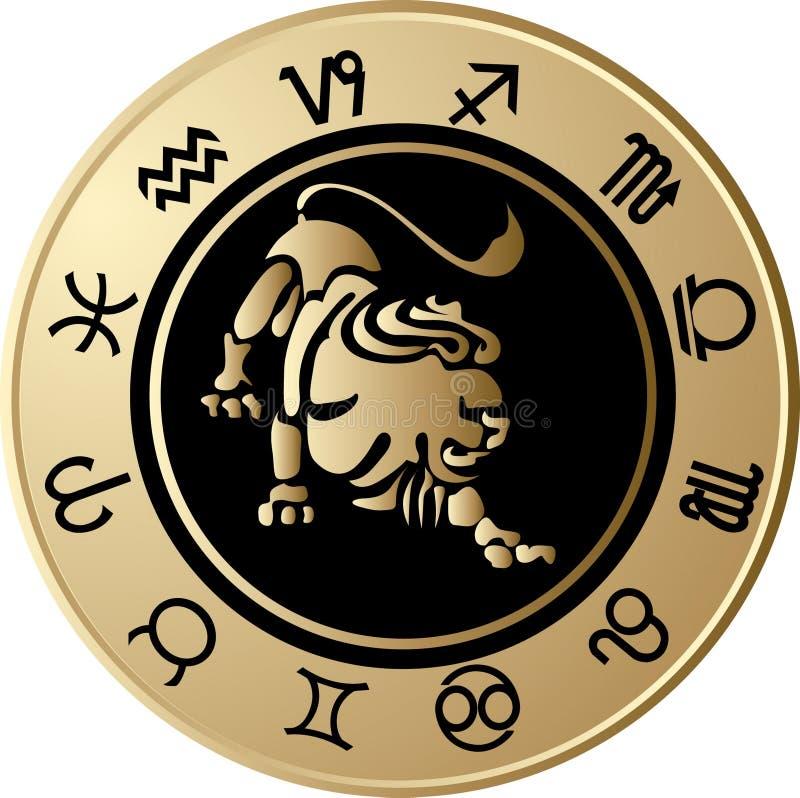 horoskop Leo ilustracja wektor