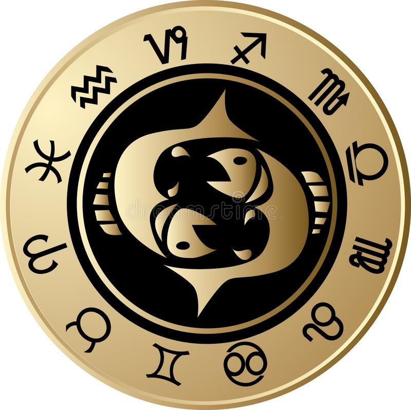 horoskop Pisces ilustracja wektor