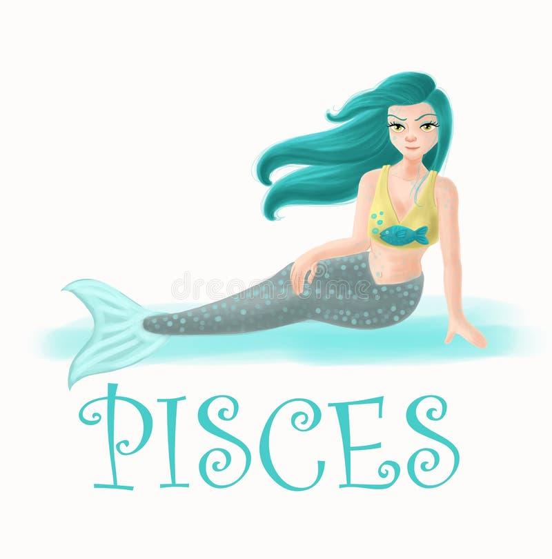 Horoskop Pisces royalty ilustracja