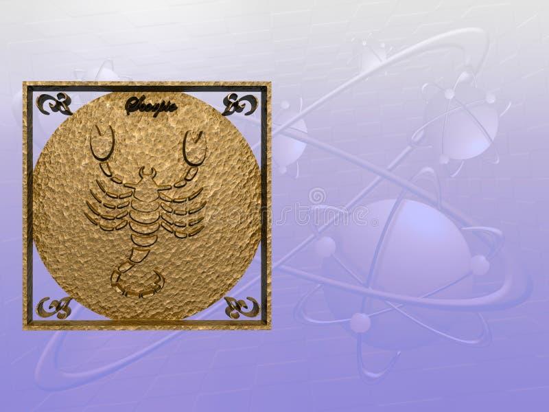 Horoskop, Skorpion lizenzfreie abbildung