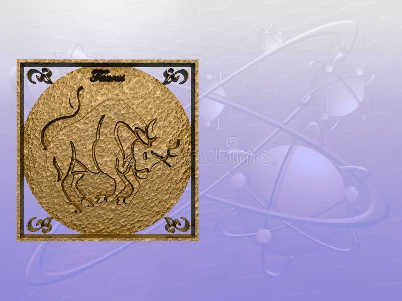 Horoskop, Stier. stock abbildung