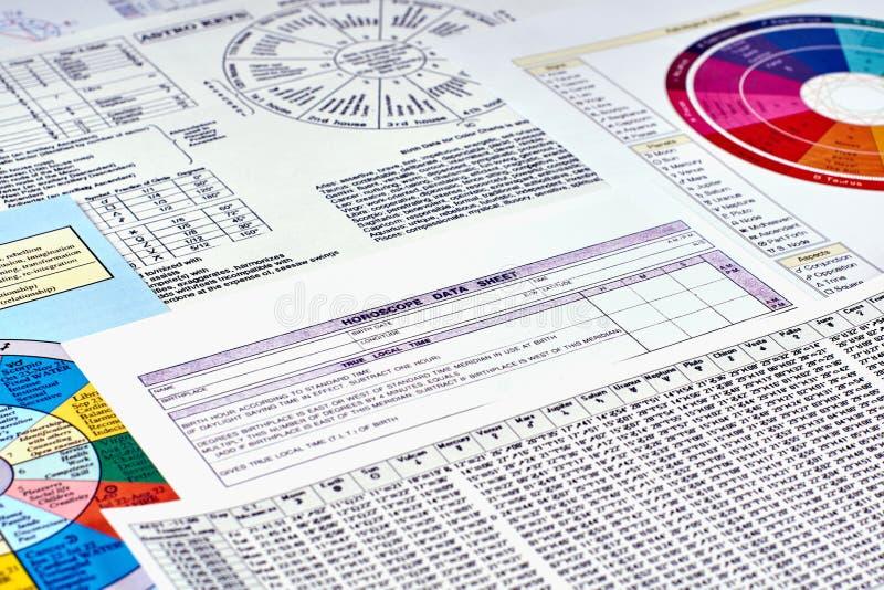 HoroskopLeistungsblatt stockbilder