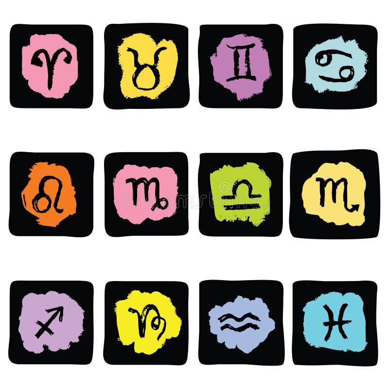Horoskopu zodiaka gwiazdy znaki, wektoru set royalty ilustracja
