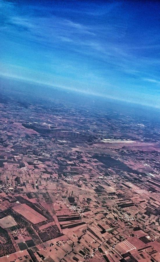 Horozon-Ansicht vom Flugzeug stockfotos