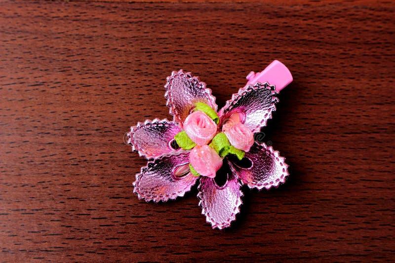 Horquilla rosada de la flor fotos de archivo
