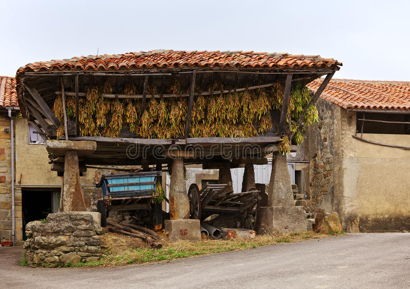 Horreo at Luces royalty free stock photo