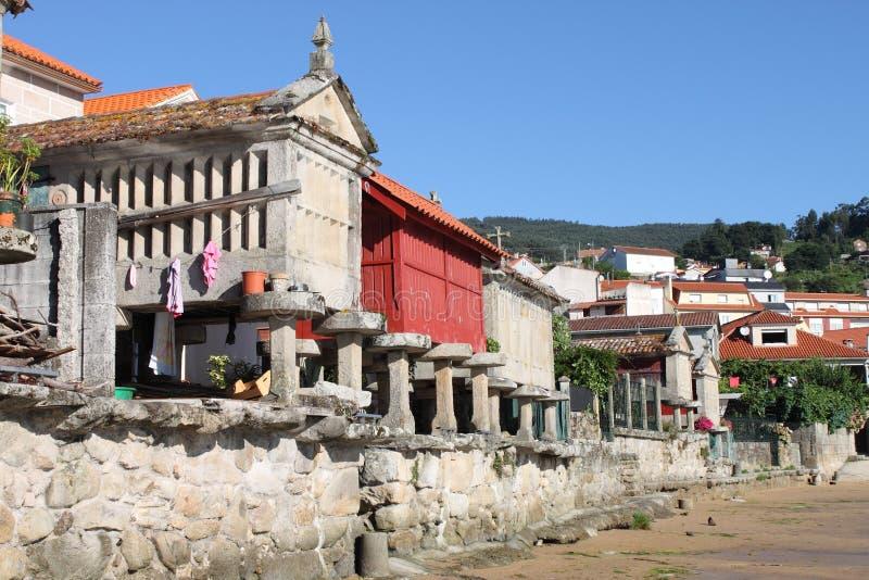 Horreos w Combarro obrazy royalty free