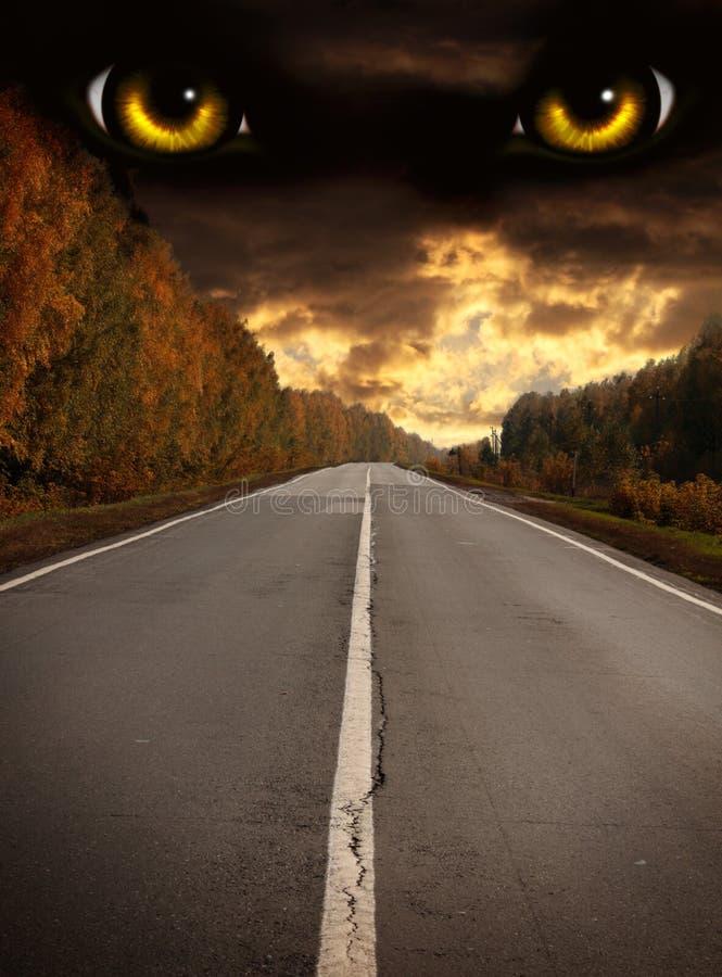 Horreur dans la nuit illustration de vecteur