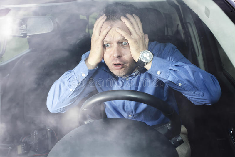 Horreur de conducteur image stock